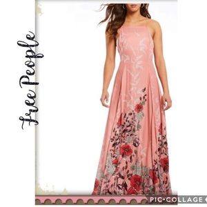NWT Free People Embrace It Floral Maxi Pink